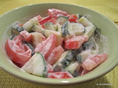 Wasabi  Tomaten-Gurkensalat      Rezept
