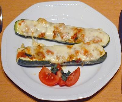 Vegetarische Zucchinischiffchen Rezept